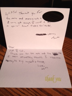 Twins Thank You Note