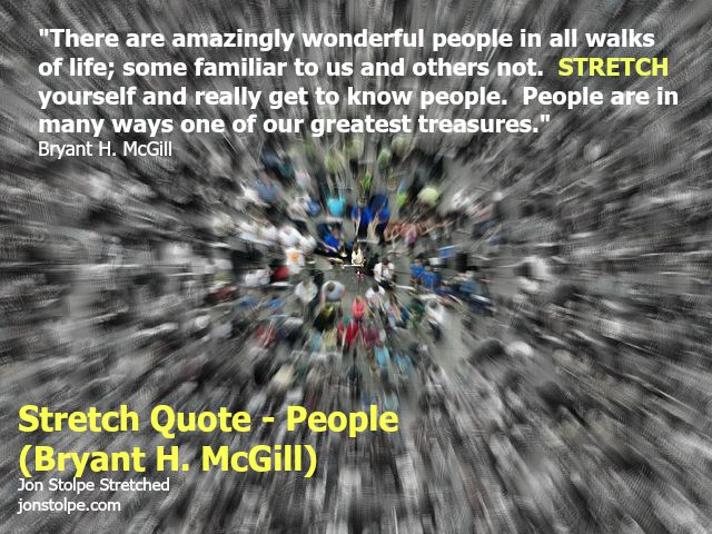 stretch quote people