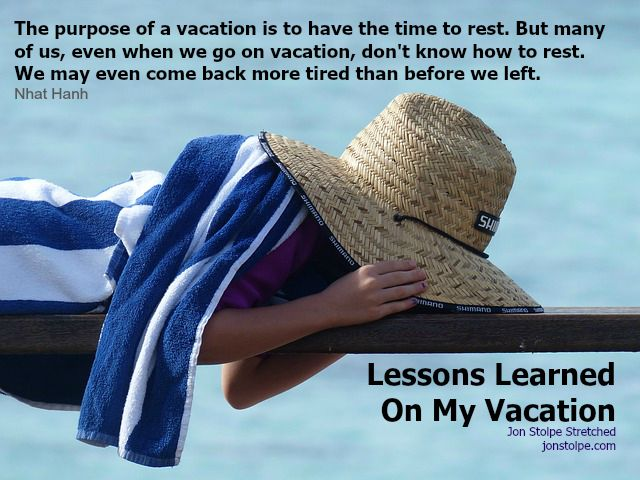 vacation lessons