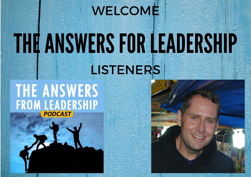 WELCOME THE ANSWERS FOR LEADERSHIP