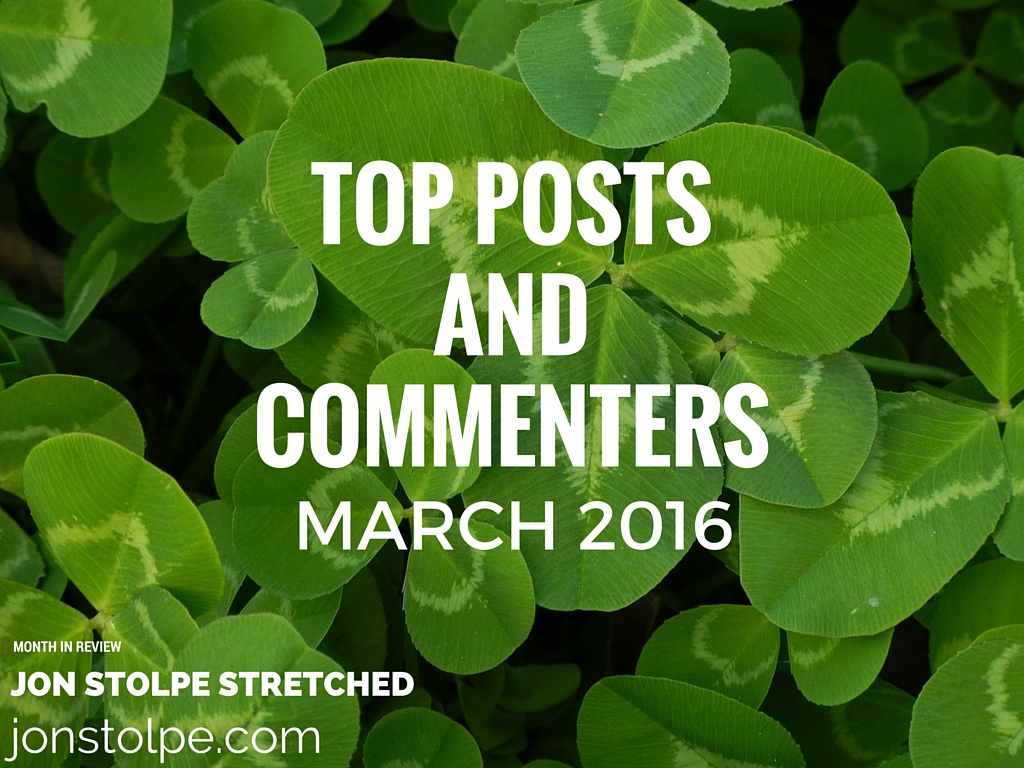 TOP POSTS AND COMMENTERS March 2016